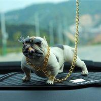 NOUVEAU Car Dog Décor Bully Dog Poupées Ornements Simulé Voiture Intérieur Pendentif Intérieur Décor Jouets intérieur Accessoires