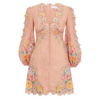 Frühling und Sommer 2020 neue australische Luxus-Design Nische Temperament elegante Fee V-Ausschnitt Super Fairy Dress