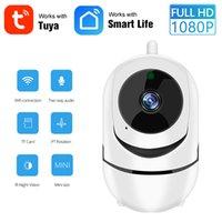 1080P Full HD 2MP WIFI Ev Güvenlik IP Kamera Kablosuz Mini Akıllı Tuya Kamera Video Gözetim Otomatik Takip Bulut