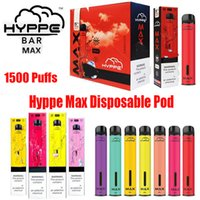 Hyppe Bar Max Einwegvorrichtung Pod Kit 650mAh Batterie 1500 Puff 5ml Pre-Filled Vape Pods Pen-Patronen VS Posh Bang XL Xtra Plus-Flow-XXL