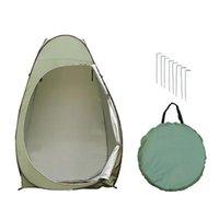 -up Tente Tente de camping Abri de plage Confidentialité toilettes Vestiaire Stockage Simple mobile pliable Bandage pour l'extérieur