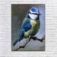 Resim Sergisi El Yapımı Soyut Hayvan Renk Kuşlar Yağlıboya Tuval Üzerine Duvar Sanatı Resim Oturma Odası Için Ev Dekorasyon Yok Çerçeve