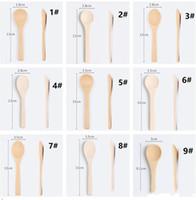 5.1 polegadas de bambu Mini Colher Cozinha Cozinhar Colher Condimento utensílio colher de café SQ414