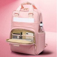 Litthing Waterproof Pink Laptop Backpack Female Fashion Girl...