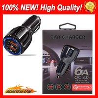 100% ny snabb billaddare qc2.0 3.1a Dual USB 9V 2A 12V 1.2A Snabb Laddning Telefonavgift för mobiltelefon med bilbindare