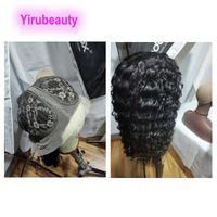 Virgin indiano capelli a forma di T 13 * 6 parrucche diritta onda profonda riccio crespo allentato profondo 12-26inch 100% capello umano parrucca T 13x6