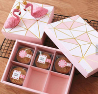 OEM DIY Оптовая доставка подарков Mooncake Упаковка Moon Cake коробка упаковки на заказ логос Напечатано Luxury Mooncake Box Gift Wrap