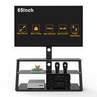 Склад США, 3-5 дней доставки, многофункциональный черный закаленный стеклянный телевизор подставка для гостиной мебели и регулируемый высотой W24104953