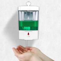 700ML mural Distributeur de savon Shampooing Détecteur automatique Distributeur de désinfectant Cuisine Salle de mer Distributeurs de savon liquide Expédition IIA387