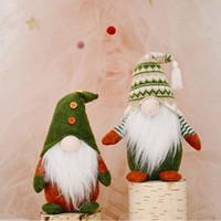 زينة عيد الميلاد شجرة عيد الميلاد العفريت دمية أفخم لعب محبوك النسيج غير المنسوجة مجهولي الهوية دمية بابا نويل الحلي ث-00202