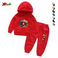 Kızlar Kapüşonlu Set Moda Takım Elbise YENI Sincaplar Erkek Hoodies Kızlar Hoodies Tişörtü 3T-8T Alvin Kostüm Çocuk Hoodies 3-12 Yıl X0923