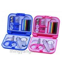 Pocket Voyage Mini Kit de couture | Kits Boîte Threads aiguille à coudre Voyage Portable Scissor Thimble Accueil Outils Set L-0025