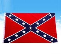3 × 5 أقدام 2020 أعلام الولايات المتحدة الأمريكية الكونفدرالية العلم وجهان مطبوعة الاتحاد المتمردين نمط ستار البوليستر لافتات السلع في المخازن