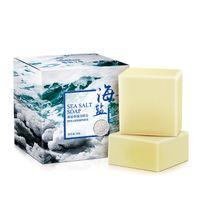 100 جرام ماعز الحليب البحر الملح الصابون الوجه غسل تبييض الصابون العناية بالبشرة