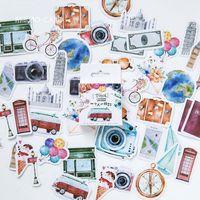 45PCS / حزمة KAWAII المسافر الدفتري لطيف نمط مخطط يوميات مدرسة البستان هدية هالوين عيد الشكر