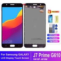 SAMSUNG J7 Prime LCD için SAMSUNG GALAXY J7 Prime LCD G610 G610F G610M Ekran Dokunmatik Ekran Sayısallaştırıcı Değiştirme için
