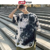 LAPPSTER Men Tie Dye giapponese Streetwear T Shirt 2020 Estate Mens Harajuku cotone T-shirt maschio coreano Oversize Tops 5XL Tees 0921