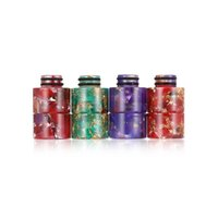 IN STOCK!!! 510 Resin Drip Tips Tip Epoxy Mouthpiece Wire Bore Suck for TFV12 Prince TFV8 X Big Baby Crown Atomizer