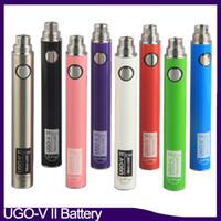 Original Ugo-V2 II 650 900mAh Evod Ego 510 Batterie Micro USB-Ladung Verdampfer E CIGS O Pen-Vape-Batterien 0270001