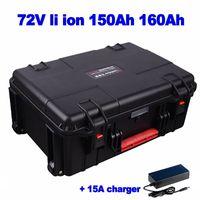 li de litio batería de iones de promoción 72V 150Ah 160Ah para AGV calle camión de comida barredora EV RV carretilla elevadora polímero lipo + 15A del cargador