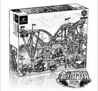 15039 4619 шт Творческое Разнообразие серии Roller Coaster модели набор Строительные блоки Кирпич 10261 день рождения подарки игрушки