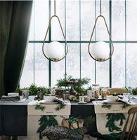 İskandinav postmodern tek kafa led avize oda kolye lamba yemek basit yaratıcı cam bilye tasarımcı modeli oda kişilik bar ışıkları