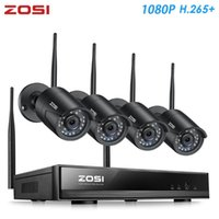 نظم Zosi H.265 1080P 8CH CCTV نظام المراقبة الأمنية اللاسلكية WiFi IP كاميرا في الهواء الطلق NVR كيت HDD البعيد عرض في جهاز الكمبيوتر