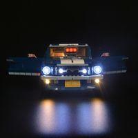 21047 ile uyumlu 10265 Mustang için LED Işık Kiti (araba tuğlaları seti dahil değildir)