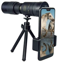 4K 10-300X40mm سوبر تليفوتوغرافي التكبير احادي العين تلسكوب الهاتف الذكي مع حامل ثلاثي القوائم، للحصول على مراقبة الطيور / الصيد / التخييم / السفر