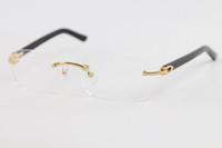 Завод прямых продаж Rimless Женщины мужчина золото кадр очки очки кадров C украшения золото кадр очки Размер: 56-18-140mm
