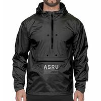 2020 ASRV 남성 후드 스웨터 스포츠 느슨한 새로운 가을 반사 긴 피트니스 윈드 후드 티를 실행 야외 스포츠 슬리브