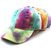 قبعات ملونة شارع قبعة بيسبول قبعة قديم الأزياء الكرة للرجل امرأة قابل للتعديل القبعة بيني أعلى جودة