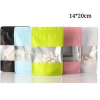 14 * 20cm Accessoires pour la maison Paquet Zip Mylar Sacs de verrouillage Levez-Seal Fermeture éclair d'emballage en plastique avec Pouches Pochettes de haute qualité
