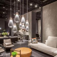 G4 Lâmpadas Pingente moderno Pingente luzes de vidro Sala Nordic minimalista à moda de suspensão Luz Mesa de Jantar Restaurante Café