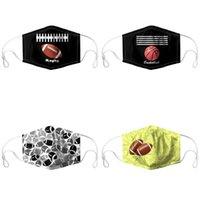 Rugby Football Basketball Máscaras de impressão voltado Mascarilla lavável respiráveis Dustproof Respirador Moda reutilizável personalizada Homens Mulheres New 7yya C2