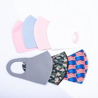 الكبار الجليد الحرير العلم الأميركي كامو طباعة الوجه أقنعة مصمم الأزياء قناع أقنعة واقية يمكن إعادة استخدامها قابل للغسل الغبار حلقة الأذن القماش