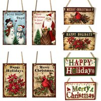 Nuovo anno porta appeso segno albero di Natale ornamento decorazione natalizia casa pendente in legno navidad regalo jk2010xb