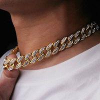 Mens Iced Out Catena Hip Hop Gioielli Braccialetti Bracciali Bracciali in oro rosa argento Miami Cuban Collana Catene Collana