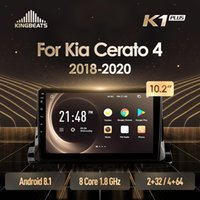 unidad principal KingBeats Android 8.1 Octa-Core 4G en el tablero de coches reproductor de vídeo Radio Multimedia navegación GPS para Kia Cerato 4 2020-2020 DVD del coche