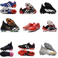Predator Mania modificador 20 FG Mens couro Botas de Futebol Futebol sapatos de alta qualidade predador acelerador Trainers Football Grampos