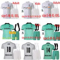 새로운 Borussia Mönchengladbach 축구 유니폼 남성 키트 + 양말 Gladbach Monchengladbach 유니폼 20 21 Zakaria Plea Thuram 축구 셔츠