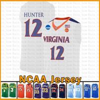 Virginia Cavaliers NCAA De'Andre 12 Hunter LeBron James 23 Università Kawhi Leonard Dwyane Wade 3 pallacanestro Jersey Stephen Curry 30 Br