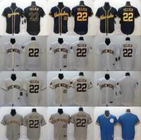 Nova 2020 Milwaukee Homens Mulheres crianças jovens 22 Christian Yelich Jerseys 19 Robin jérsei de basebol