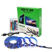 RGB 5050 Uzaktan Kumanda USB LED Şerit Işık DC5V 5 M / 4 M Su Geçirmez Esnek Işıklar Lamba Değiştirilebilir TV Arka Plan Aydınlatma Bahçe Dekorasyon