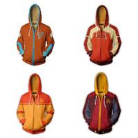 Avatar: La leyenda de Aang Aang chaqueta cosplay diario cremallera con capucha 3D Impreso con capucha ropa deportiva con capucha Top