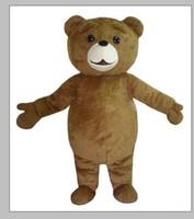 2019 professionelle heißen Teddy-Bär-Maskottchen-Kostüm-Karikatur-Abendkleid Versand schnell Erwachsen-Größe