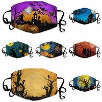 Hallowmas Funny Face Mask Staubdichtes Clown Masken Waschbar Einstellbare Anti-Staub-Halloween-Kürbis Druck Designer Masken RRA3403