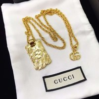 Hot selling luxury jewelry female letter G designer pendant necklace high-end version elegant gold chain necklace couple fashion style1
