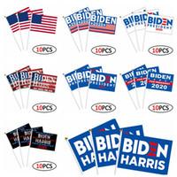 Joe Biden Harris mano bandiera degli Stati Uniti Biden Harris 14 * 21 cm Elezione bandiera americana bandierina della mano 10pcs / lot Bandiere mano CCA12467 30lot