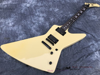 Rare pesante metallico James James Hetfield MX-220 Signature Cream Bianco Explorer Chitarra elettrica Eet Fuk Fingerboard Inlay, copia i pickup EMG,